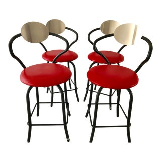 Amisco Bar Stools- Set of 4 For Sale