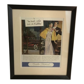 1940s Vintage Car Advertisement Print For Sale