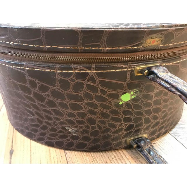 Vintage Faux Crocodile Truly Light Luggage, Prop - Image 8 of 8