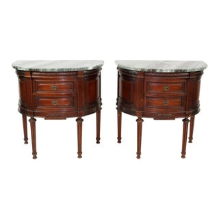 French Demi-Lune Commodes - A Pair For Sale