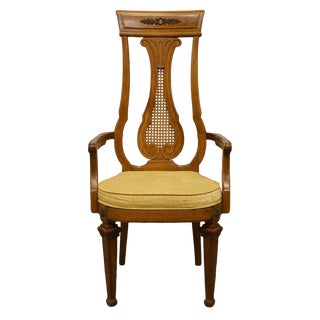 Late 20th Century Vintage Thomasville Furniture Villa d'Este Collection Dining Arm Chair For Sale