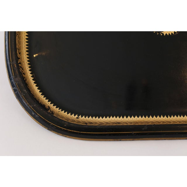 Black Italian Tole Tray For Sale - Image 8 of 10