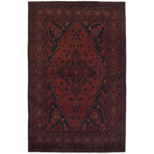 "Finest Khal Mohammadi Afghan Rug - 4'3"" X 6'6"" - Image 1 of 2"