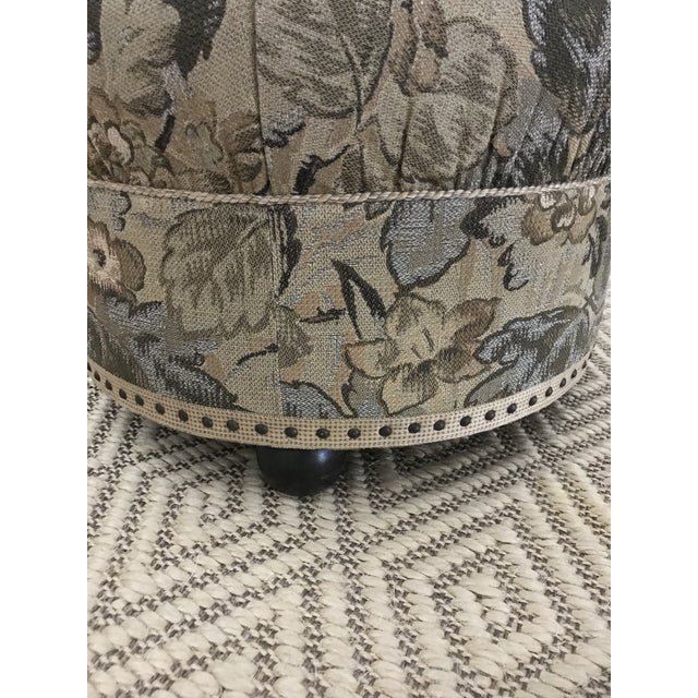 Vintage Fabric Upholstered Foot Stool/Ottoman For Sale - Image 6 of 13