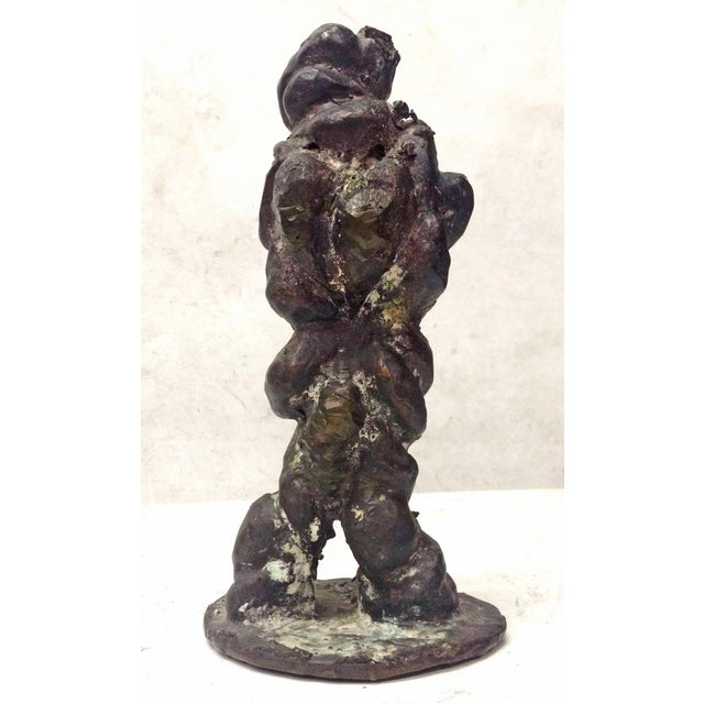 Vintage 1975 Amorphous Cast Bronze Sculpture - Image 3 of 7