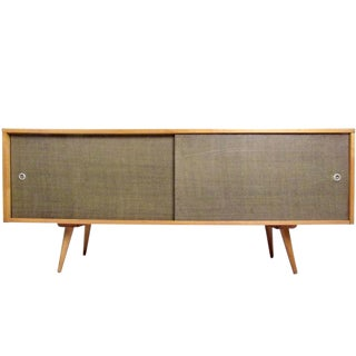 Paul McCobb Mid-Century Modern Sliding Door Credenza For Sale