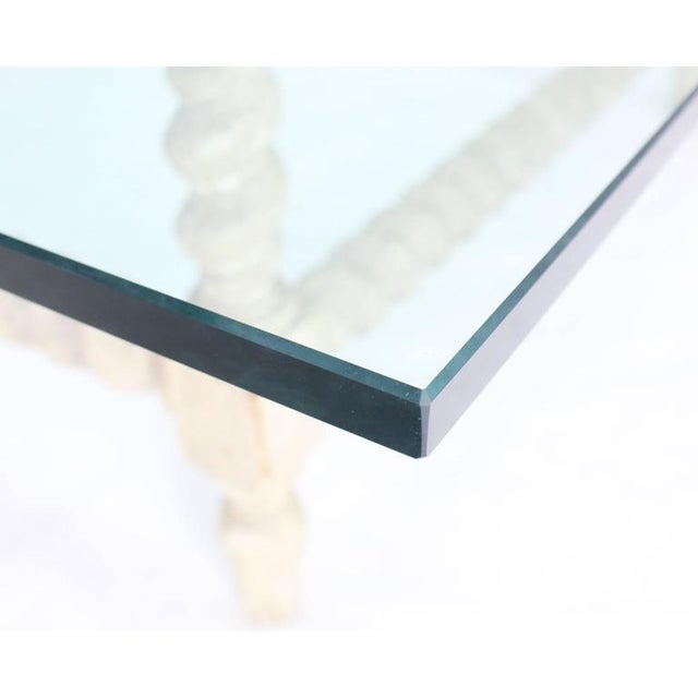 Large Square Coffee Table With Glass Top: Superior Large Oversize Square Glass Top Coffee Table