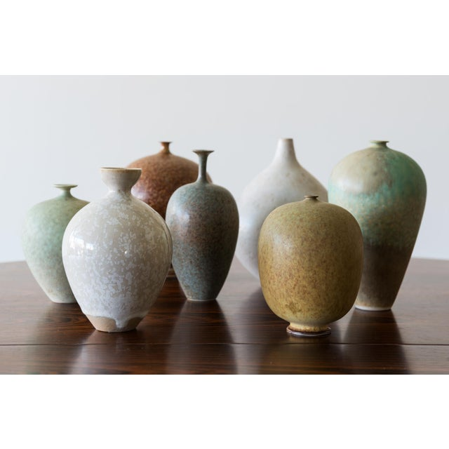 Set of Seven Miniature Vases by Ulla Selin Edin Sweden, 1986 For Sale - Image 10 of 10