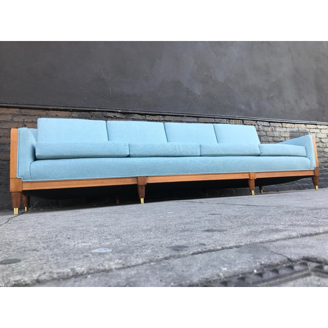 Vintage Mid Century Long Sofa For Sale - Image 12 of 13