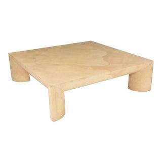 Mid-Century Modern Goatskin Coffee Table, Karl Springer For Sale