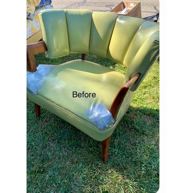1940s Vintage Billy Haines Era Channel Back Chair For Sale - Image 11 of 12