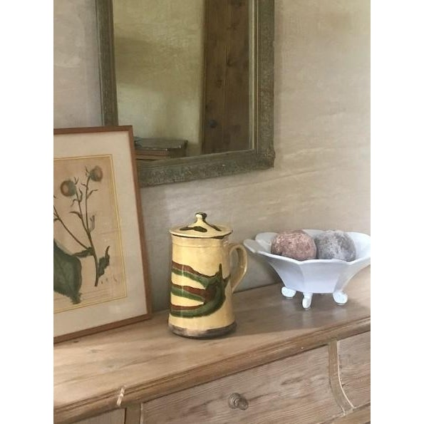 French Country 19th Century Lidded Jaspe Pitcher For Sale - Image 3 of 12