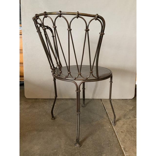 Art Deco Metal Bistro Chair For Sale - Image 4 of 5