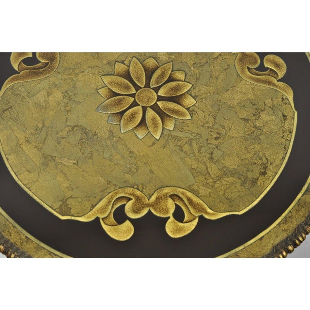 1960s Vintage French Inspired Figural Gold Side Table For Sale In Philadelphia - Image 6 of 11