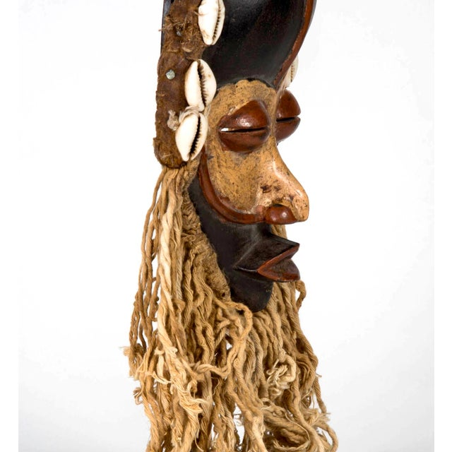Rope Dan People of Liberia Gold and Black Mask For Sale - Image 7 of 7