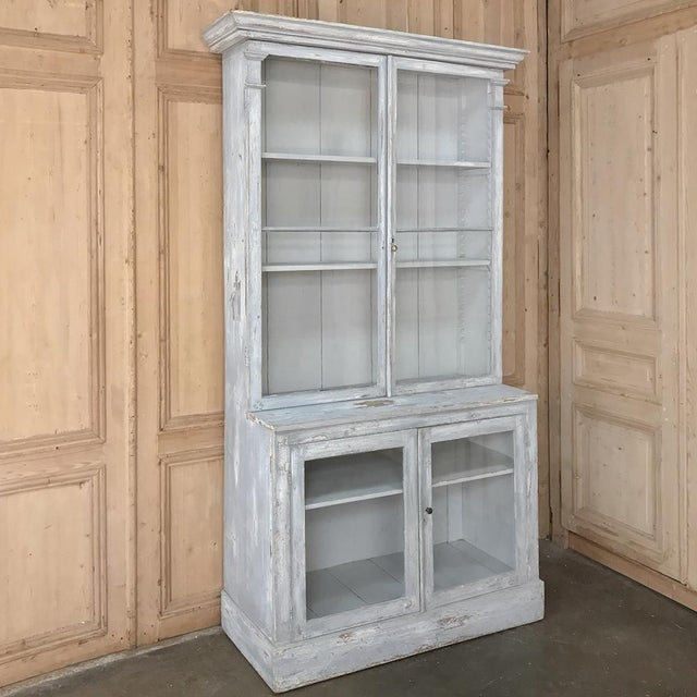 Antique Swedish Scraped Painted Bookcase For Sale - Image 13 of 13