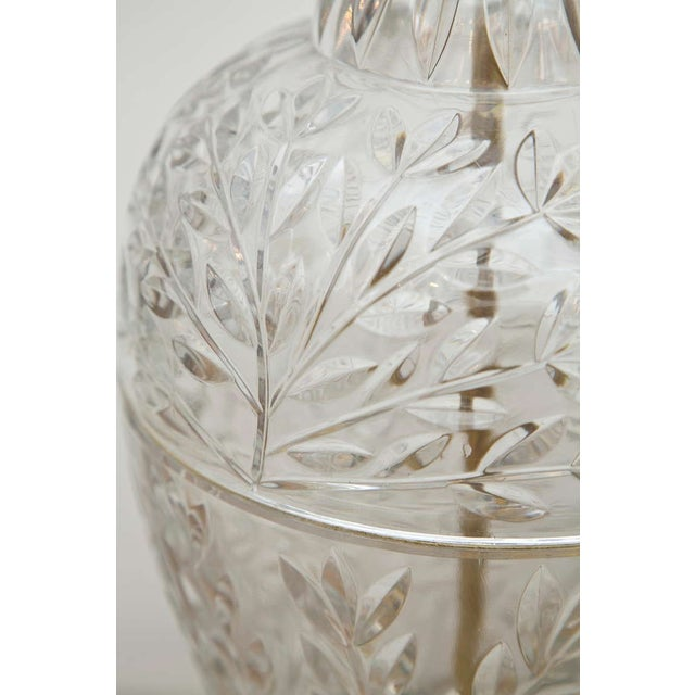 Mid-Century Glass & Brass Ginger Jar Lamps - Pair - Image 3 of 6