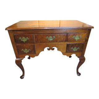 Early 19th Century Antique Queen Anne Lowboy For Sale