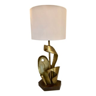 Yasha Heifetz Brass Sculpture Table Lamp For Sale