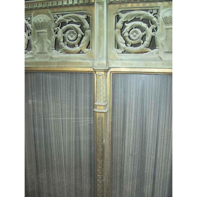 Ornate Bronze Palladian Window Transom For Sale - Image 5 of 10