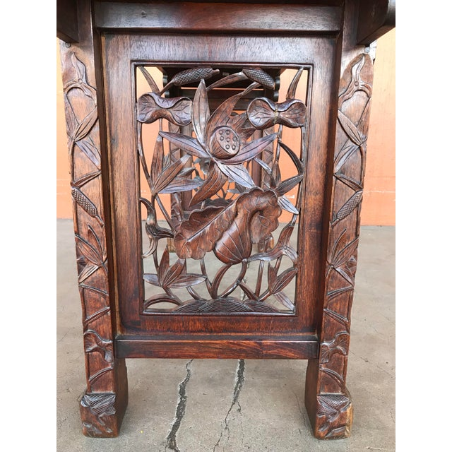 Teak Chinese Carved Altar Table For Sale - Image 7 of 10
