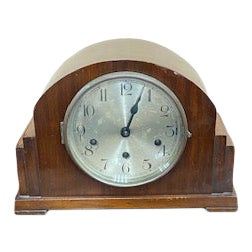 Antique Traditional Mahogany Clock For Sale