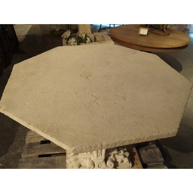 16th Century Rare Period Renaissance Carved Stone Table from the South of France, 1570 For Sale - Image 5 of 10