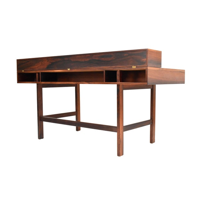 Danish Modern Rosewood Desk by Peter Løvig Nielsen for Dansk - Image 4 of 11
