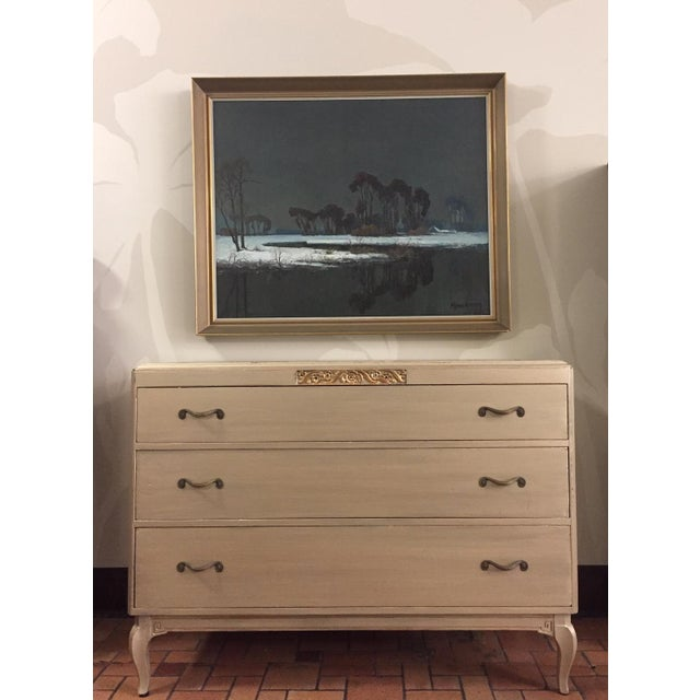 If you can't make up your mind between gold and silver then this chest of drawers is for you! This dresser has been...