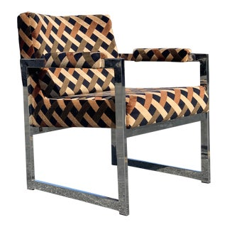 1960s Adrian Pearsall Chrome Chair For Sale
