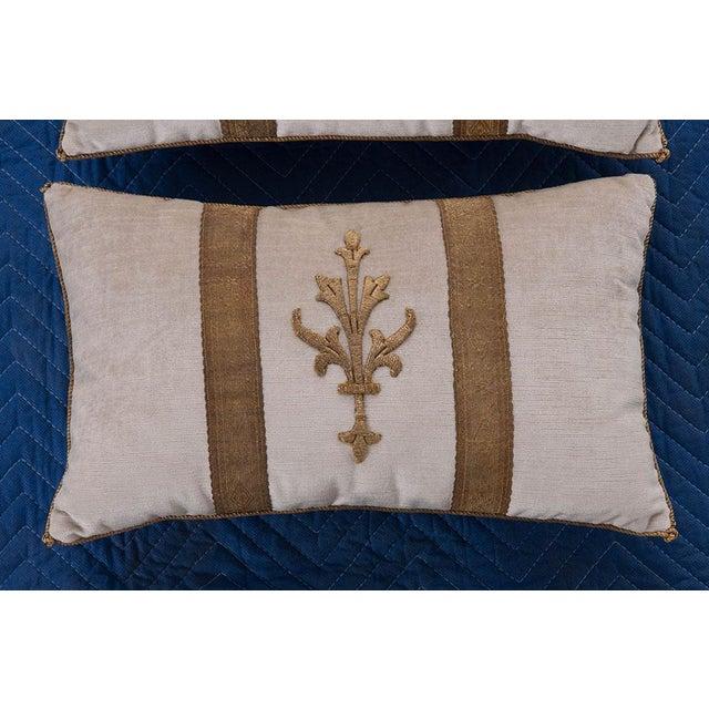 Antique Textile Pillows By B.Viz Designs - A Pair - Image 4 of 5