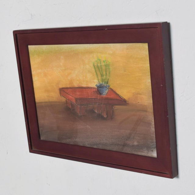 Pastel Paper Drawing Table - Still Life by P. Romo For Sale In San Diego - Image 6 of 6