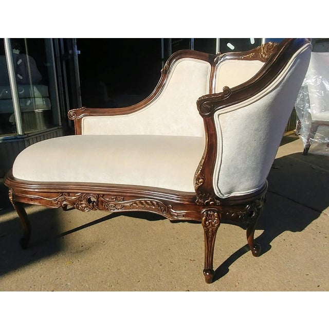 Henredon Furniture Sabine Mahogany Left Arm Chaise Lounge / Settee Sale includes one complete Sabine Chaise as pictured....