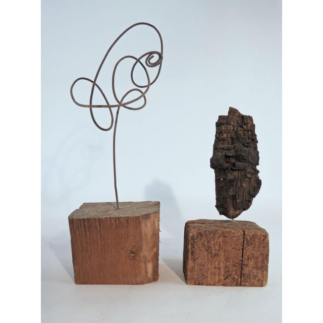 Collection of Abstract Driftwood Sculptures, Gloucester, Ma, Circa 1960s-1970s - Set of 9 For Sale - Image 12 of 13