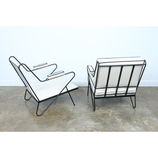 Wrought Iron Custom Hairpin Leg Chairs - A Pair For Sale - Image 10 of 11