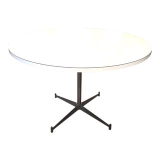 Paul McCobb White Laminate & Steel Dinette Table