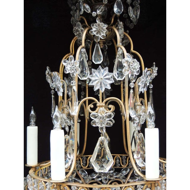 Bronze Early 20th C French Bronze Crystal Chandelier, attributed to Maison Baguès For Sale - Image 7 of 10