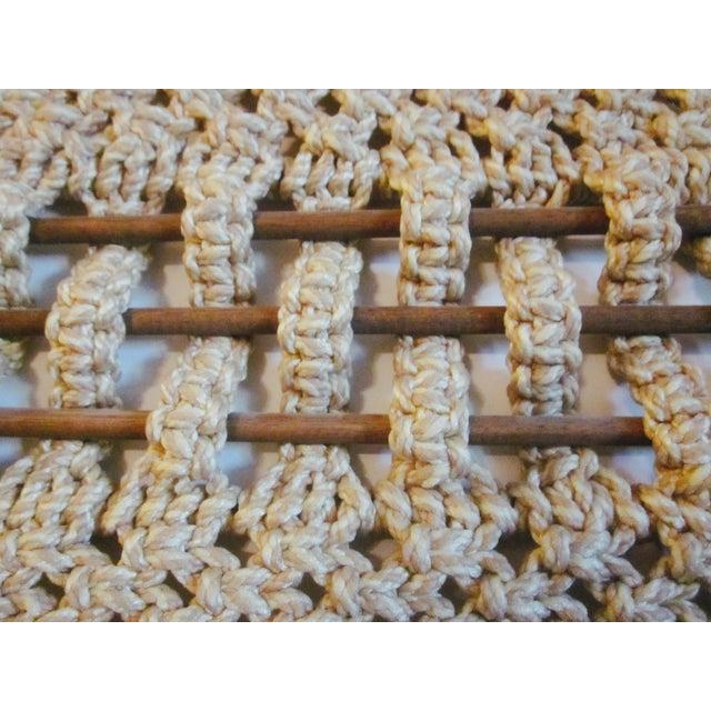Vintage Jute Rope Macrame Boho Wall Hanging - Image 10 of 10