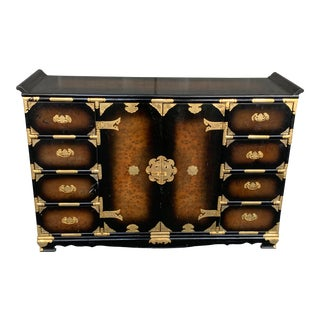 Vintage Asian Style Console Cabinet For Sale