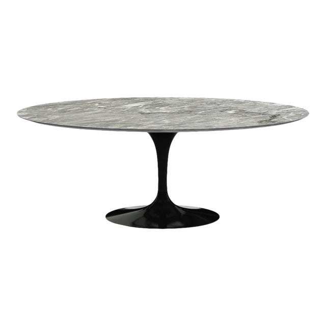Eero Saarinen for Knoll Dining Table in Black Marble For Sale