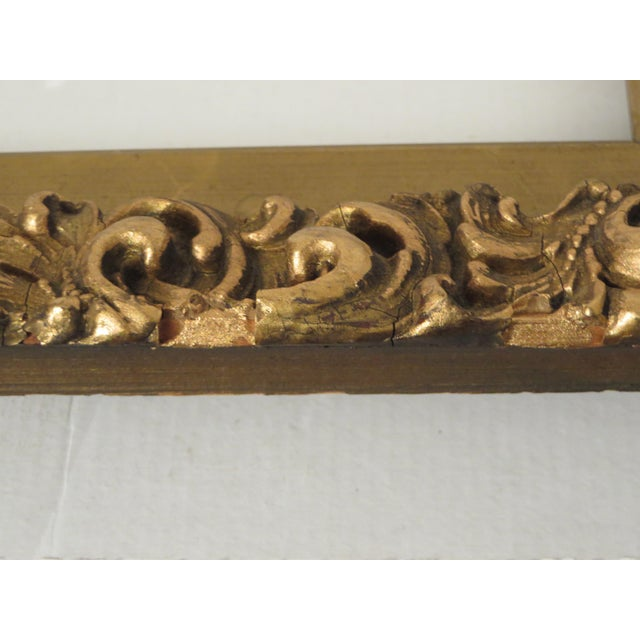 Antique Wood Gesso Gold Gild Picture Frame for Painting or Mirror For Sale In Philadelphia - Image 6 of 9