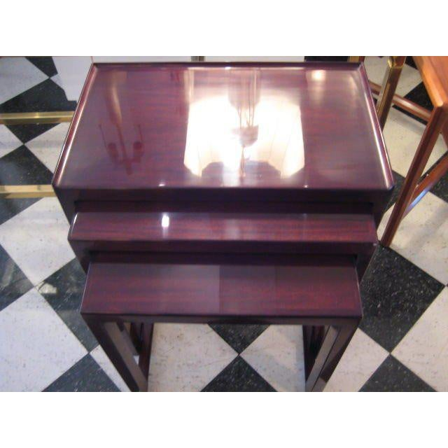 1940s A Set of Edward Wormley for Dunbar Nesting Tables For Sale - Image 5 of 5