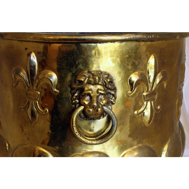 Traditional Late 19th Century Antique Brass Jardinere For Sale - Image 3 of 6