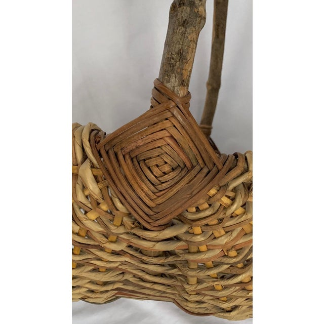 Vintage Buttocks Gathering Basket For Sale In Miami - Image 6 of 13