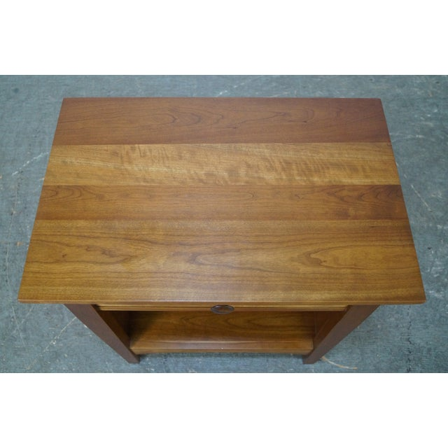 Stickley Mission Style Solid Cherry Nightstand - Image 7 of 10