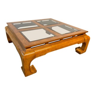 Ming Asian Chinoiserie Coffee Table For Sale