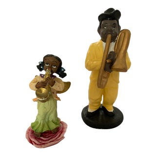 1940s Jazz Duo Figurines - Set of 2 For Sale