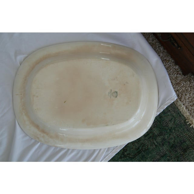 Shabby Chic Large Vintage Shabby Chic Platter For Sale - Image 3 of 5