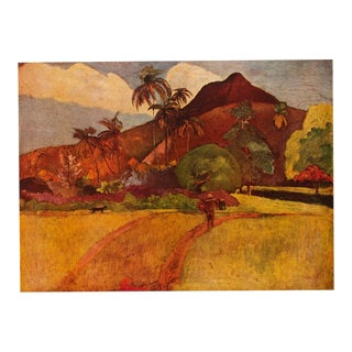 "1950s Paul Gauguin, ""Tahitian Landscape"" First American Edition Lithograph For Sale"