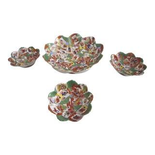 Vintage Kutani Porcelain Bowls - Set of 4 For Sale